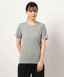 【THE CHIC】オーガニックコットンホールガーメントTシャツカーキ