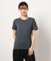 【THE CHIC】オーガニックコットンホールガーメントTシャツチャコールグレー
