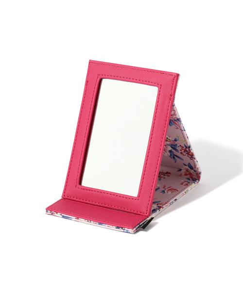 Francfranc(フランフラン)の「ピオニー 折り畳みミラー S ピンク(メイク雑貨)」 マルチ