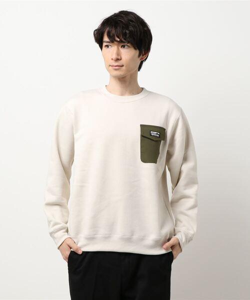 極暖ポケットトレーナー ヘビーウェイト生地 裏起毛 ルーズシルエット/オーバーサイズ ブランドロゴ