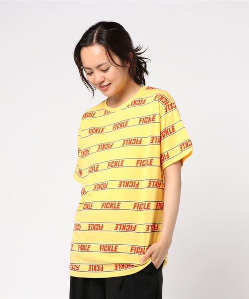 WEGO/パターンプリントロゴTシャツ