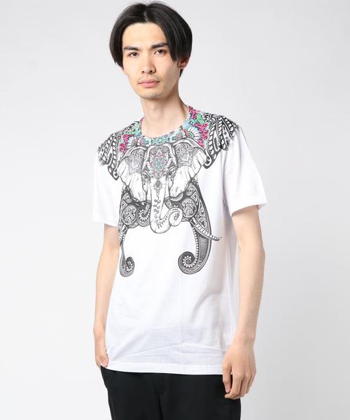 e10a428b2a84c チャイハネ(チャイハネ)の チャイハネ アニマルプリントメンズTシャツ(Tシャツ