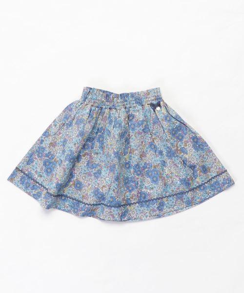 【メール便無料】 Tartine et Chocolat/LIBERTY(Gloria Flowers)フレアスカート(110cm~130cm), 国立市 a8db4a5d
