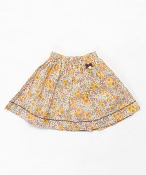 新着 Tartine et Chocolat/LIBERTY(Gloria Flowers)フレアスカート(110cm~130cm), アジアの布雑貨 ウィージャ 49704051
