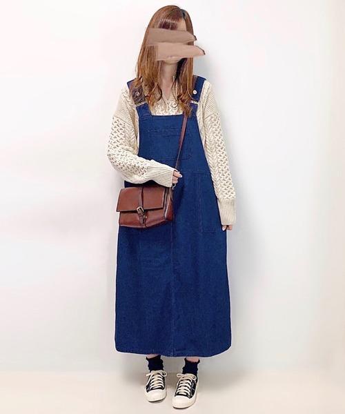 【インフルエンサー aiko×ADOLESCENCE限定コラボ】サイドポケット付きゆったりジャンパースカート