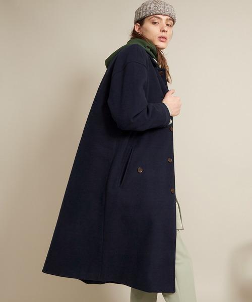 ビーバーメルトンロングステンカラーコート/バルカラーコート (EMMA CLOTHES)