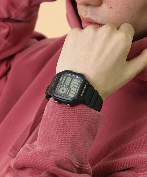 【 CASIO / カシオ 】スタンダード デジタル時計 チープカシオ AE-1200WH-1A/1B・・