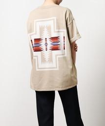 GO OUT 2021年 5月号p.56掲載 【 PENDLETON / ペンドルトン 】 PENDLETON UNISEX Back Print Tee / バックプリント ポケット半袖 Tシャツ ポケTベージュ