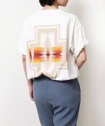 GO OUT 2021年 5月号p.56掲載 【 PENDLETON / ペンドルトン 】 PENDLETON UNISEX Back Print Tee / バックプリント ポケット半袖 Tシャツ ポケTオフホワイト
