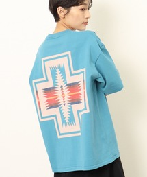 GO OUT 2021年 5月号p.56掲載 【 PENDLETON / ペンドルトン 】 PENDLETON UNISEX Back Print Tee / バックプリント ポケット半袖 Tシャツ ポケTターコイズブルー