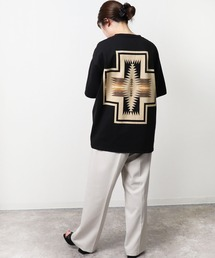 GO OUT 2021年 5月号p.56掲載 【 PENDLETON / ペンドルトン 】 PENDLETON UNISEX Back Print Tee / バックプリント ポケット半袖 Tシャツ ポケTブラック