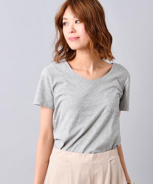 ベーシックコットンウィメンズクルーネック半袖Tシャツ