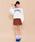 WEGO(ウィゴー)の「WEGO/アニマルプリント別珍タイトミニスカート(スカート)」|詳細画像