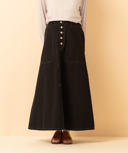Aラインステッチスカート