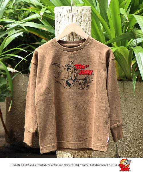 【coen キッズ / ジュニア】Tom and Jerry(トムとジェリー) 刺繍ロングスリーブTシャツ