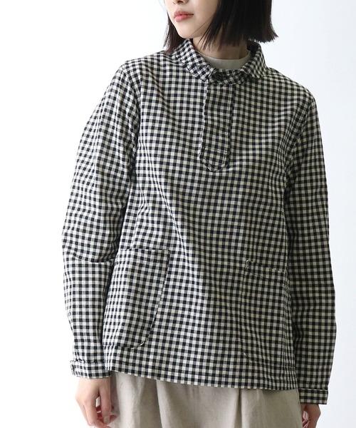 【 D*g*y / ディージーワイ 】# 綿オックス丸襟シャツ  OX CHECK BLOUSE  D8560・・