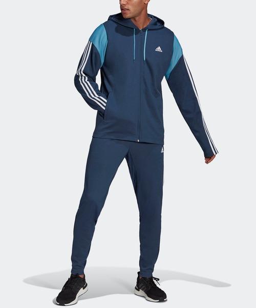 アディダス スポーツウェア リブインサート トラックスーツ [adidas Sportswear Ribbed Insert Track Suit] アディダス