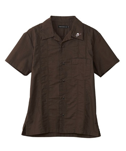 RED NAIL POLISH刺繍 キューバシャツ