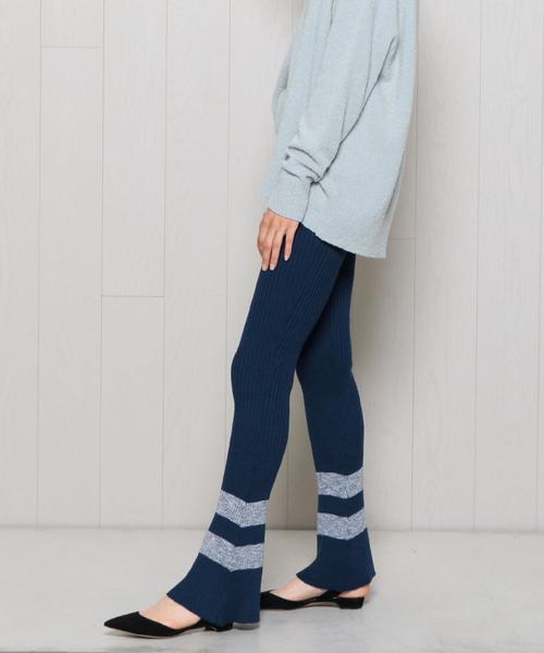 <BAUM UND PFERDGARTEN>MIX LINE RIB PANTS/パンツ