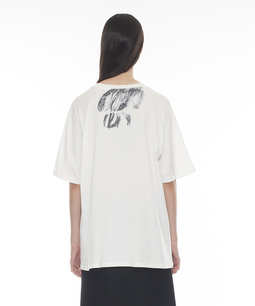 Hair Embroidered T-Shirt