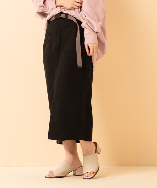 Wポケ付ナロースカート