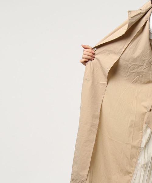トレンチ風ロングコート
