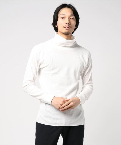 【HealthKnit/ヘルスニット】ベーシックワッフルタートルネック長袖Tシャツ 606L SIP