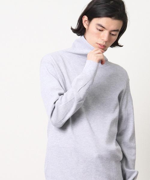 【 HealthKnit / ヘルスニット 】ベーシックワッフルタートルネック長袖Tシャツ 606L SIP
