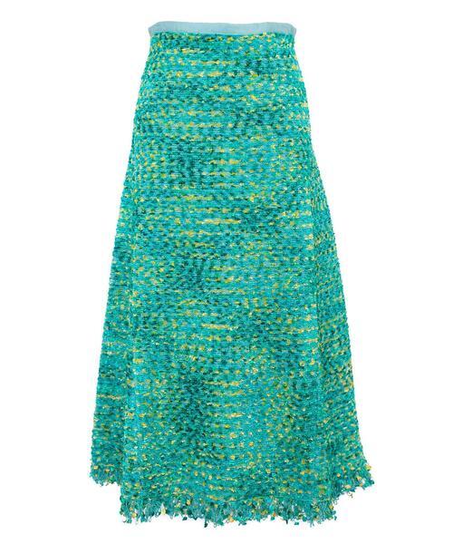 Drawer 12Gミックスフリンジニットスカート