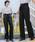select MOCA(セレクトモカ)の「美シルエットハイウエストウエストリボン両サイドポケットタック入りワイドパンツ(パンツ)」|ブラック