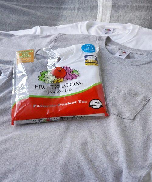 포개 부착 팩T셔츠2 매세트|FRUIT OF THE LOOM(후루츠 오브 소쿠리《―무》)