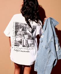 ANAP(アナップ)のBACKフォトプリントポケット付Tシャツ(Tシャツ/カットソー)