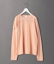 <6(ROKU)>SHEER LOCK LONG SLEEVE PULLOVER/カットソー