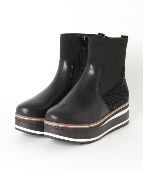 neue marche(ノイエマルシェ)の「厚底ショートブーツ/951(ブーツ)」|ブラック