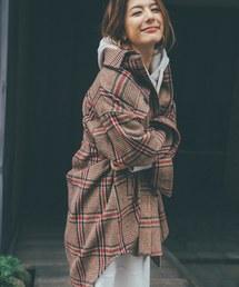 haco!(ハコ)の【スザンヌさんコラボ】ビッグシルエットのタータンチェックジャケット by LOVE&PEACE PROJECT(その他アウター)