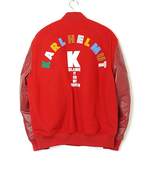 トップ KARLマルチカラーバックロゴスタジアムジャンパー(スタジャン) KARL HELMUT(カールヘルム)のファッション通販, フクオカシ:4975cd3e --- tsuburaya.azurewebsites.net