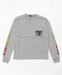 PSYCHO KILLER pt リブ付Tシャツ【L】トップグレー