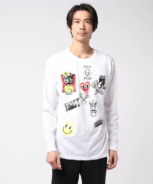 Tract(トラクト)の「ECLECTIC LONG T-SHIRT(Tシャツ/カットソー)」|ホワイト