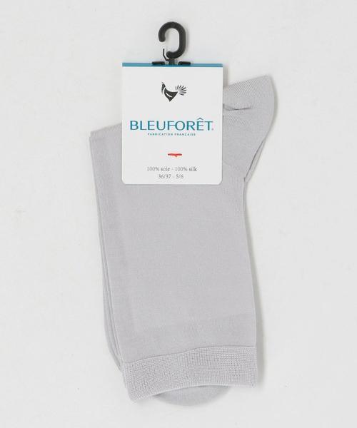 <BLEU FORET(ブルーフォレ)> SILK SHORT SOX