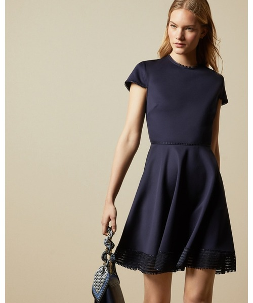 Ted Baker(テッドベーカー)の「240636-WMD-ROHDIA メッシュ スケータードレス(ドレス)」|ネイビー