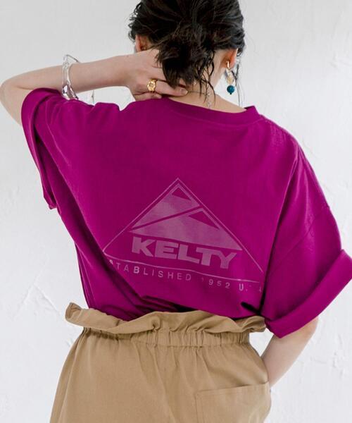 【WEB限定カラー】KELTY(ケルティ)別注トリプルサンカクバックプリントTシャツ#