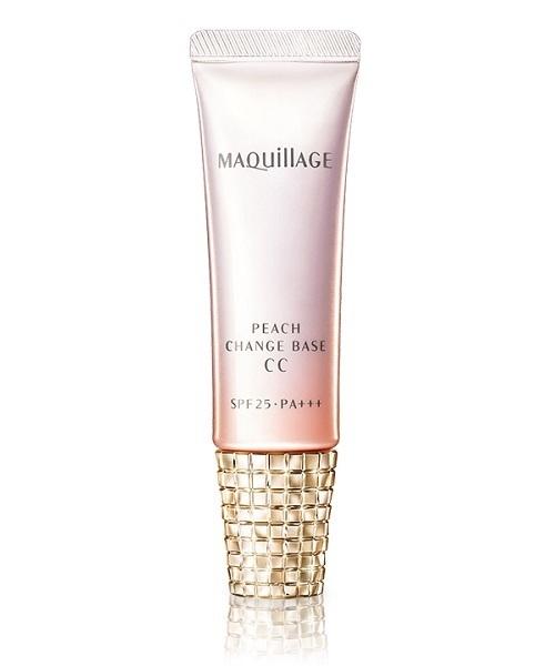 MAQuillAGE(マキアージュ)の「マキアージュ ピーチチェンジベース CC(メイクアップ)」|ピンク