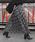 coca(コカ)の「上品花柄ロング丈プリーツスカート(スカート)」|ネイビー