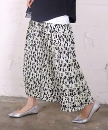 coca(コカ)の上品花柄ロング丈プリーツスカート(スカート)