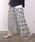 coca(コカ)の「上品花柄ロング丈プリーツスカート(スカート)」|詳細画像