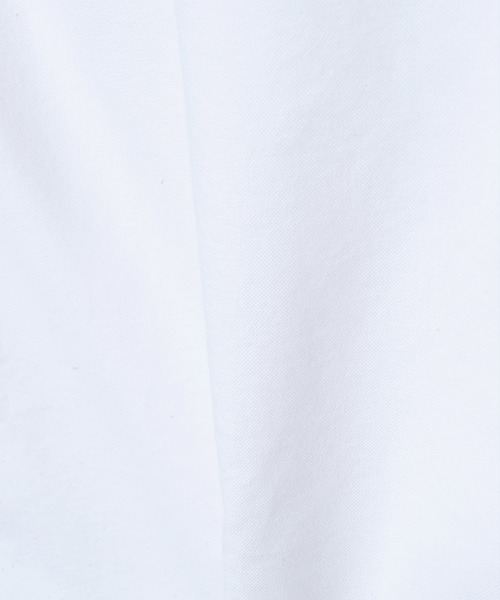 刺繍入り裾パイピングボタンダウン長袖シャツ