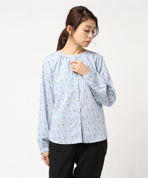レトロ幾何学プリントシャツ