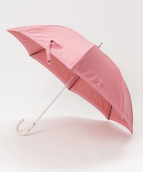 日傘 【フラワー & ボーダー】