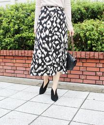 MODE ROBE(モードローブ)のレオパードタイトスカート(スカート)