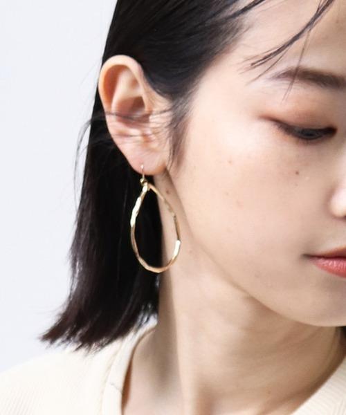 【 堀溝商店 】真鍮たたきピアス Z-17,18,19 pierce big HMI